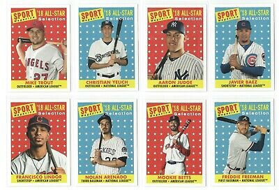 2019 Topps Archives High Number SP Sport Magazine All-Star Card Set (10) Trout!!