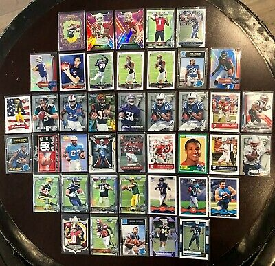 Lot Of 42 - Nfl Football Rookie & Parallel & Insert Panini Topps Cards 1989-2018