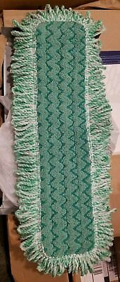 Brand New Rubbermaid Commercial Q418 Green Microfiber Dust Pad w/Fringe