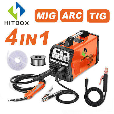 HITBOX MIG 200A 220V Welder MIG ARC Lift TIG Gas Gasless 4in1 Welding Soldadora