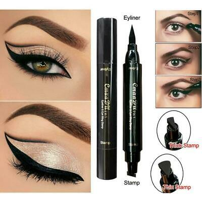 Double-end Triangle Stamp Eyeliner 2-in-1 Waterproof Eyeliner Winged Q4I1
