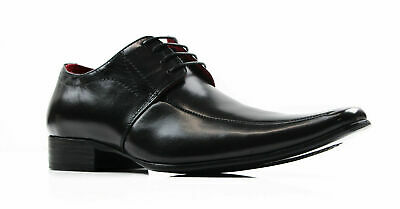NEW MENS ZASEL BLACK LEATHER SLIP ON DRESS WORK FORMAL WEDDING CASUAL SHOES
