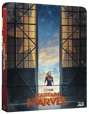 3513997 426281 Blu-Ray Captain Marvel (Steelbook) (Blu-Ray 3D+Blu-Ray)