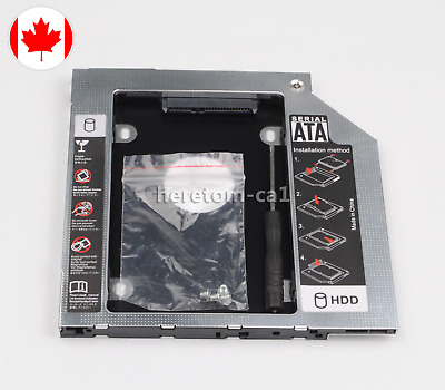 2nd SSD HDD HD Hard Drive Caddy for HP EliteBook 2530P 2540p 2560p 2740p New