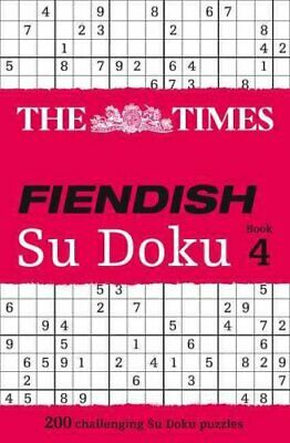 The Times Fiendish Su Doku Book 4 200 Challenging Puzzles from ... 9780007364534