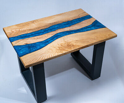 River Table Epoxy Resin Live Edge Coffee Table 480 79