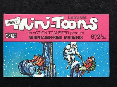 A&BC 1970 Mini-Toons Mountaineering Madness Unrubbed Letraset Transfer-Very Good
