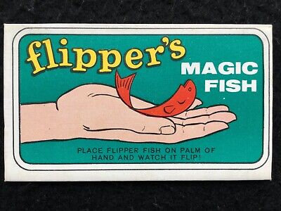 "1966 Topps Flipper's Magic Fish #6 Yellow Sea Horse ""Magic"" Insert - Good"