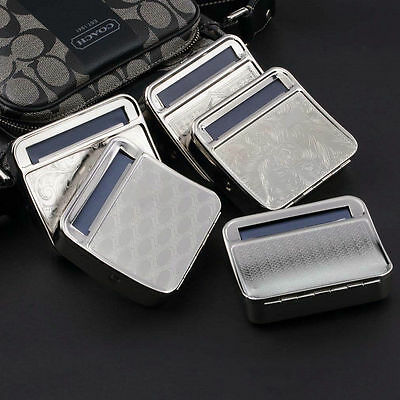 Metal Automatic Cigarette Tobacco Roller Roll Rolling Machine Box Case Tin ve