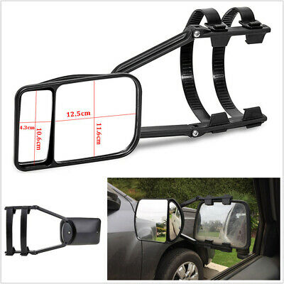 car Caravan Trailer Towing Tow Wing Mirror Extender Blind Spot Extension Clip On