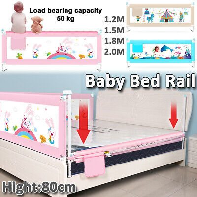 Baby Crib Bumper Rail Guard Folding Sleeping Toddler Safety Gate Standard Bed