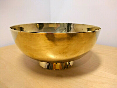 Antique PEERAGE Solid Brass Bowl Made in England Height 9 cm Diameter 20 cm