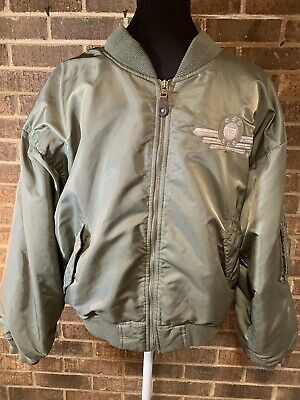Vtg Warner Bros Studio Store Looney Tunes Olive Bomber Jacket Adult Small