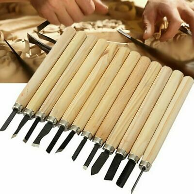 12Pcs Professional Wood Carving Hand Chisel Tool Set Woodcarving Hobby DIY Tools