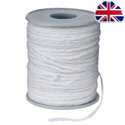 60M/Roll Spool of Cotton Square Braid Candle Wicks Wick Core Candle Making HI