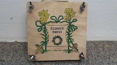 Vintage wooden flower press 18 x 18cm apx arts crafts flowers fairies 20s style