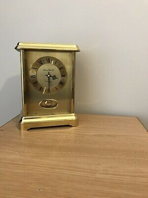 vintage carriage brass clock,time mod working nicely,Germany movement