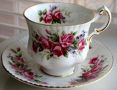 Paragon Roses Fine Bone China Cup And Saucer 1950s
