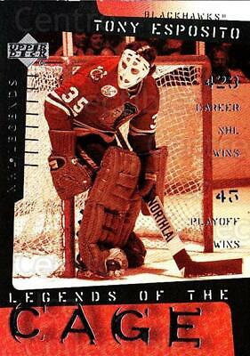 2000-01 Upper Deck Legends of the Cage #10 Tony Esposito