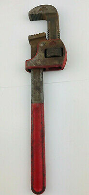 "Vintage 14""  ""Improved Stillson"" Monkey Pipe Wrench w/ Sharp Teeth"
