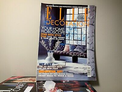 2004 Annual Collection of ELLE DECORATION Magazine | 12 Issue Bundle |