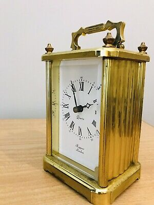 vintage metamec carriage clock-brass-working nicely- germany,quartz movement