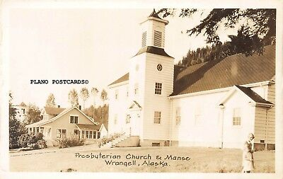 "Wrangell, Alaska ""Presbyterian Church And Manse"" Rppc Real Photo Postcard"