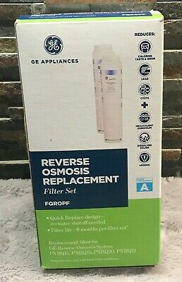 GE Profile FQROPF Reverse Osmosis Water Filter 2 Pack Twist Lock Replacement