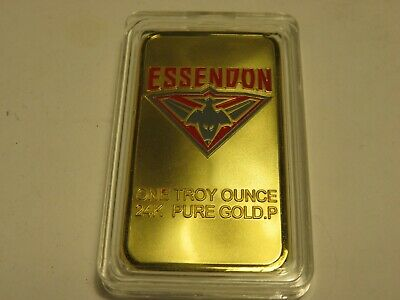 Essendon Ingot 24K Pure Gold Plate