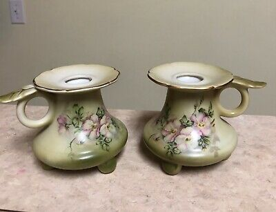 VTG Nippon Handpainted Candle Stick Holders