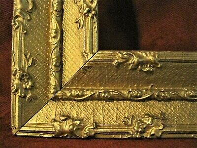 Antique Gold 11 x 15 1/2  Late 1800`s Ornate Picture Frame Very Good Condition
