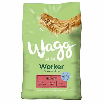 Wagg Worker Complete Dry Dog Food - Beef & Veg - 16kg