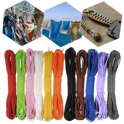 100FT Tent Guy Rope 550 Parachute Cord Paracord Reel 7Strand Camping Supplies