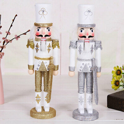 Hnadmade Nutcracker Christmas Gift Walnut Soldiers Wooden Ornaments Home Decor