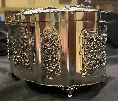 Gorgeous ITALIAN 925 STERLING SILVER HANDCRAFTED ORNATE JEWELRY ESROG BOX