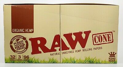RAW King Size Organic Pre-Rolled Cones (6 PACKS / 36 CONES) 🔥  Free Shipping US