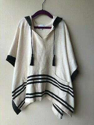 WITCHERY Cashmere Blend Knit Poncho Jumper Hooded Girls Sz S fits 8 Years