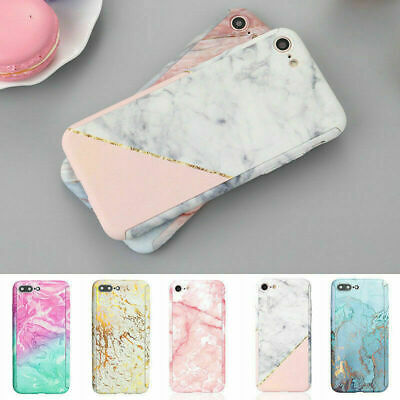 Marble Case for iPhone XS Max XR 6s 7 8 Plus 5S Cover 360 Thin Shockproof Hybrid