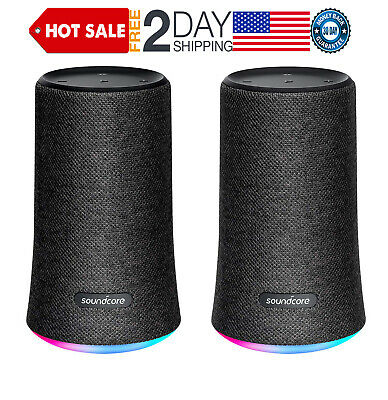 Soundcore Flare Portable Bluetooth 360° Speaker by Anker, 2 pack