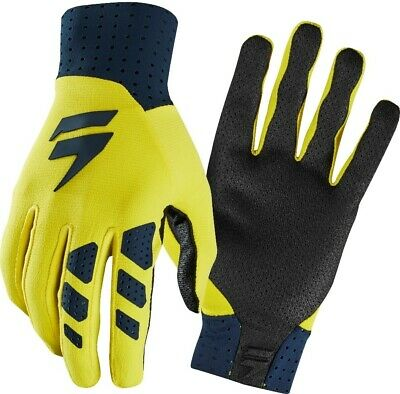 Shift MX 3LUE Label Air Motocross Off Road Race Gloves Navy Yellow Adults