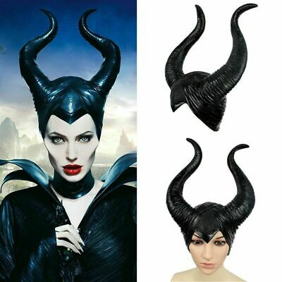 Maleficent Horns Evil black Queen Hat headpiece for Halloween Party Cosplay 2019