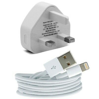100% Genuine CE Charger Plug & USB Sync Cable for Apple iPad iPhone 5 S 6 7 Plus