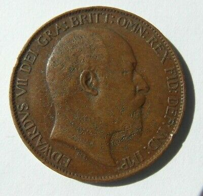 Collectable 1906 King Edward VII Half-Penny
