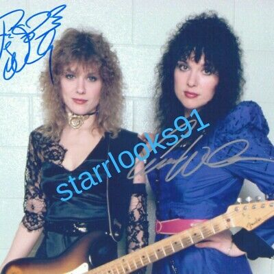 HEART BAND SIGNED AUTOGRAPH 8x10 Reprint PHOTO ANN NANCY WILSON classic
