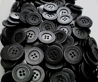 18mm 28mm White Swirl with Gunmetal Metal Edge Craft 4 Hole Buttons CB48-CB49