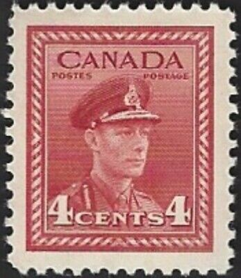 Canada   # 254   KING GEORGE VI WAR ISSUE    Brand New 1942 Pristine Issue   .04