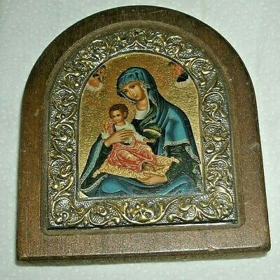 Copy Of Ancient Byzantine Icon.Madonna/Sterling Silver/10 x 9 cm/Certificate