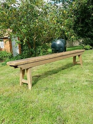 Rustic Pine Sunday School Bench Chapel Pew Niave Barn Find Victorian/Edwardian