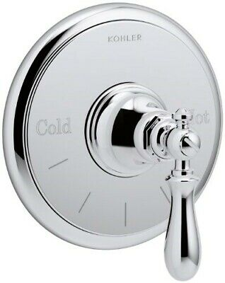 KOHLER T72769-9M-CP Artifacts Thermostatic valve trim with swing lever handle, L