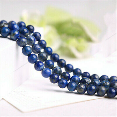 Natural Lapis Lazuli Loose Beads Making Jewelry 15 inches Charm Lots Strand